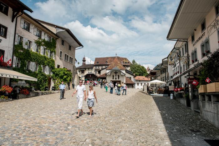 Switzerland Summer: Gruyeres, Rue du Chateau
