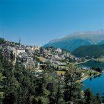 St. Moritz lake and city